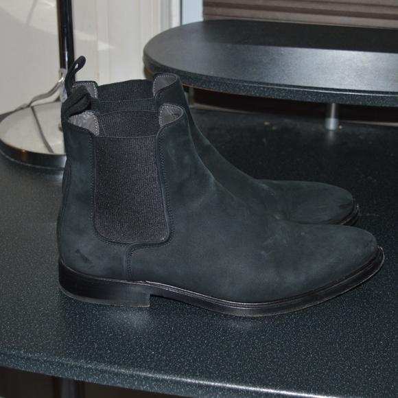 Lanvin Suede Bull Calfskin Chelsea Boot